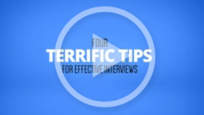 Interview Tips Video Play Button