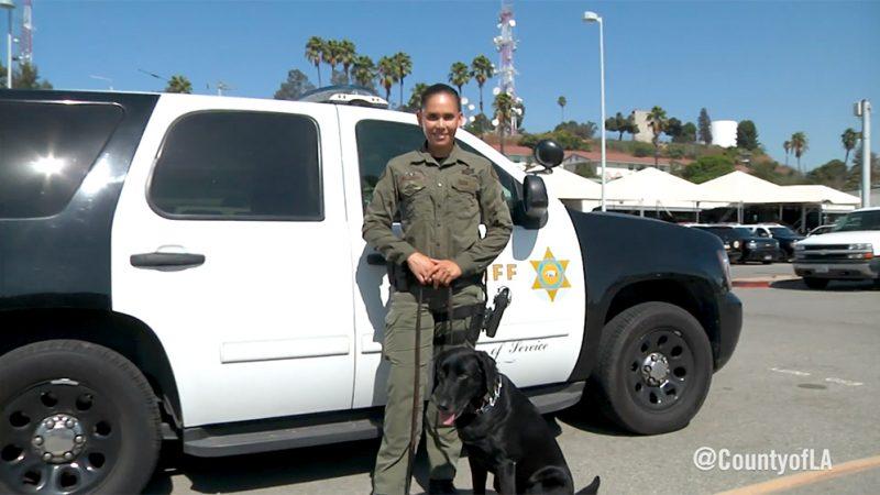 Cynthia Valencia and her K9 partner