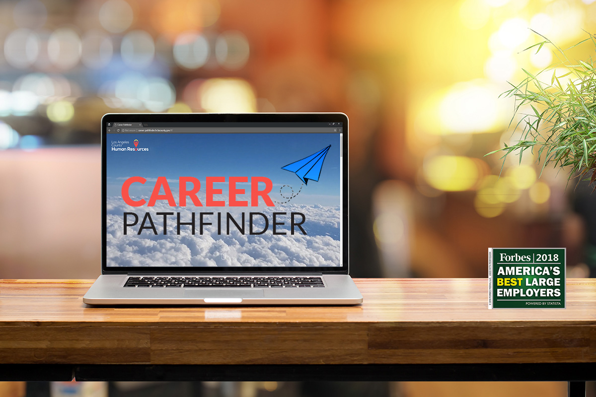 image of laptop with career pathfinder