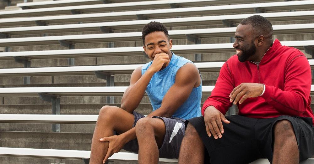 two men in athletic wear